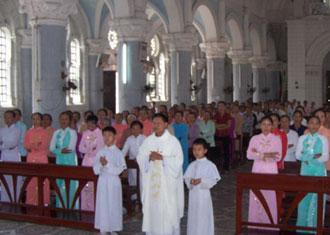 Giới hiền mẫu xứ Tôn Đạo mừng lễ quan thầy-Thánh nữ Monica